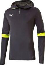 Mens New PUMA Evo Training Jacket Tracksuit Top Hooded Sweatshirt Hoodie - Grey