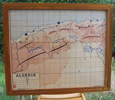 Old card geography rossignol morocco tunisia Algeria