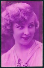 Art Deco 1920s original vintage photo postcard romance lady flapper beauty