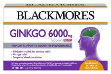 1 X 30 tablets BLACKMORES Tebonin EGb 761 ( Gingko 6000mg )