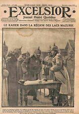 Kaiser Guillaume/Wilhelm II General v Falkenhayn Battle Masurian Lakes WWI 1915