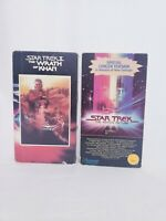 Star Trek The Movie & The Wrath of Khan, VHS Tapes