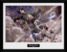 Attack On Titan Smoke Blast Anime Framed Poster Print Photo 40x30cm   12x16 in