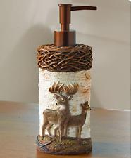 Rustic Primitive Soap Dispenser Hand Lotion White Tail Deer Cabin Bathroom Decor