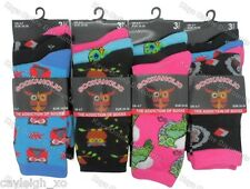 6 Pairs Ladies Novelty Design Socks Cotton Blend DESIGNER Adults Womens 4-7 Owls