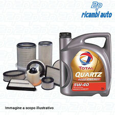 KIT 4 FILTRES + HUILE 5LT TOTAL QUARTZ 9000 5W40 CITROËN BERLINGO 1.6 HDI 110