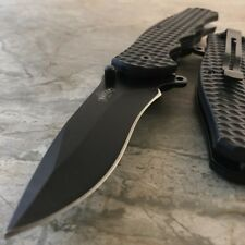 "8"" BLACK SPRING TACTICAL RESCUE Assisted Open Folding Blade Pocket Knife EDC NEW"