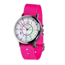 EasyRead Time Teacher Rainbow Face Past & To Watch - Pink Strap (ERW-COL-PT-PK)