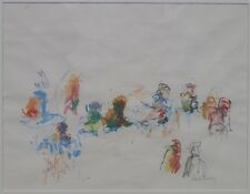 Joan Lindley Painting Abstract Expressionist Bucks County Pennsylvania Artist NR
