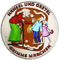 Deutschland 10 Euro 2014 Hänsel und Gretel Gebrüder Grimm Gedenkmünze in Farbe