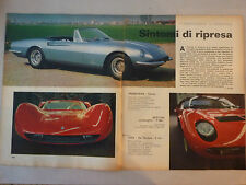 ARTICOLO CARROZZIERI PININFARINA - BERTONE - OSI - MORETTI - GHIA - FRUA -- 1966