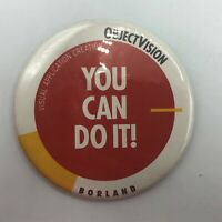 "Vintage 3"" Borland Objectvision  Pin Pinback Button Advertising (For Windows  M4"