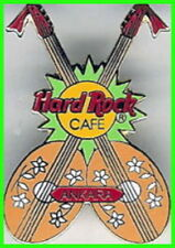 Hard Rock Cafe ANKARA (Closed) 1998 Crossed SAZ Guitars LIME Splash PIN HRC #273