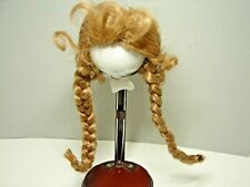 Doll Wig 12-13 Strawberry Blonde Braided Lydia Style Vintage Mint