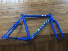 """Vintage New-Old-Stock '91 HARO IMPULSE Frame & Fork Chromoly 18"""" Blue"""