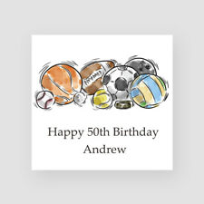 Personalised Handmade 50th Birthday Card - For Him, Son, Dad, Uncle, Sport