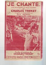 Partition Ancienne - Je Chante - Charles Trenet --
