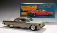 """1959 Nomura 11.5"""" BUICK INVICTA 2 DOOR COUPE Tin Litho Friction~GOLDEN AGE Japan"""