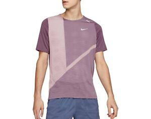 Nike Men's Rise 365 Future Fast Running T-Shirt (Plum Dust) Size Large