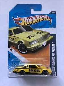 Hot Wheels Buick Grand National Yellow w/Pennzoil - 11 Performance Series - 5784