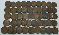 Coin Roll 1927-D Lincoln Wheat Cent Penny 50 Pennies Lot Collection Denver LE139