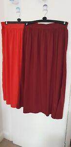 Womens Atmosphere Skirts x 2 Orange & Burgundy Size 20 Uk