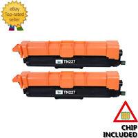 2x Toner BK for Brother TN227 TN223 TN227BK HL-L3290cdw MFC-L3710cw MFC-L3770cdw