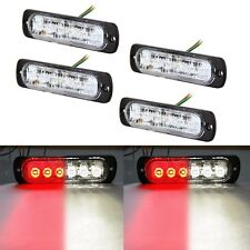4 X Super Bright Red White 6-LED Car Flash Emergency Hazard Warning Strobe Light