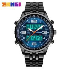 Skmei Herren Analog Digitale Uhr Wasserdicht Quarz Sports Armbanduhr Blau A3M5
