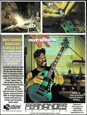 Dave Kushner (Velvet Revolver) Signature Fernandes Ravelle Elite guitar ad print