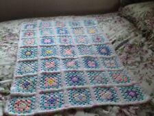 Baby Girls Handmade Crotchet Cot Blanket  NEW