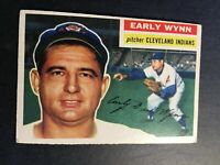 1956 Topps #187 Early Wynn HOF Cleveland Indians VG-VG+