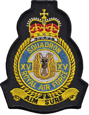No. XV (15) (R) Squadron Royal Air Force RAF Crest MOD Embroidered Patch