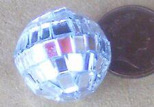 1:12 Scale Silver Disco Glitter Ball Tumdee Dolls House Miniature Accessory