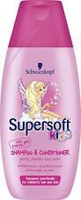 2 x Schwarzkopf Supersoft Kids Shampoo & Conditioner 250ml Each Girls Hair Care