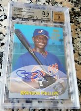 BRANDON PHILLIPS 2000 Topps AUTO Rookie Card RC BGS 8.5 9 9.5 10 Boston Red Sox