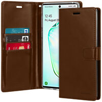 Goospery Shockproof Flip leather wallet Case Cover for Galaxy Note 10+Plus / 10