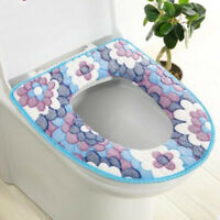 Bathroom Toilet Seat Closestool Washable Soft Warmer Mat Pad Cushion Cover G
