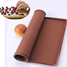 Grilled Rectangular Silicone Swiss Cake Mat Chocolate Rolls Sushi Mold Pizza Pan