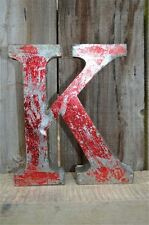 MEDIUM VINTAGE STYLE 3D RED K SHOP SIGN LETTER TIN WALL ART LETTER FONT 8 INCH