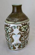 Royal Copenhagen Bottle Shape Vase Design 713/3208 by Nils Thomsson Retro Birds