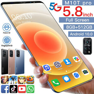 M10T Pro Cell phone 6GB+256GB android 10.05.8 HD inch smartphones 24MP HD Camer