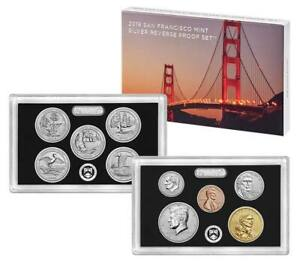2018-S 50TH ANNIVERSARY SAN FRANCISCO MINT SILVER REVERSE PROOF 10 COIN SET