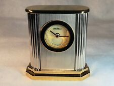 New Seiko Brass Two Tone Desk / Table Alarm Clock