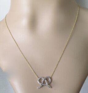 Gold Diamond Necklace - 18ct Yellow White Gold Diamond Open Pendant Necklace