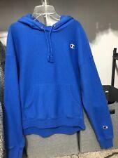 blue champion hoodie size large