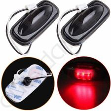 2pcs Red LED Fender Bed Rear Side Marker Lights Smoked Cover For 03-09 Dodge Ram