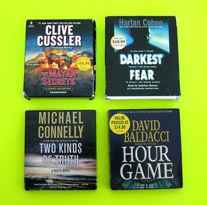 CD AUDIOBOOKS (Lot 4) Clive Cussler Harlan Coban Michael Connelly David Baldacci