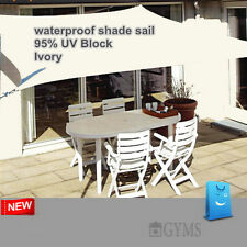 Waterproof SHADE SAIL SUN AWNING Rectangle Ivory 3x4m 3m*4m Factory Outlet