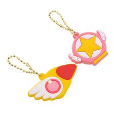 2 Pc Set Anime Card Captor Sakura Key Cover Silicone Key Cap Keychain Case Shell